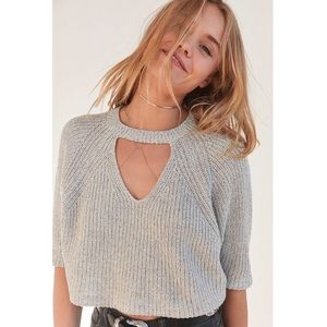 Urban outfitter silence + noise cropped sweater
